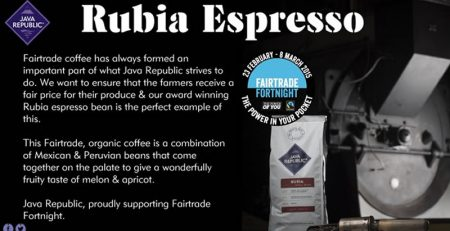 Fairtrade Fortnight Coffee Rubia