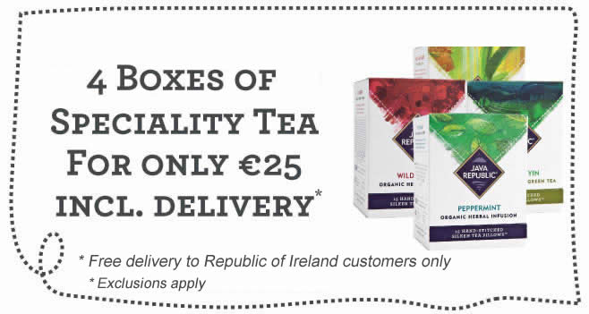 Speciality Tea Offer - Any 4 Boxes of Speciality Tea for €25 including Free Delivery in the Republic of Ireland